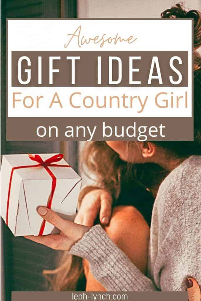Pin image for the blog post gift ideas for a country girl