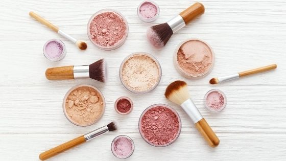 Makeup on a desk
