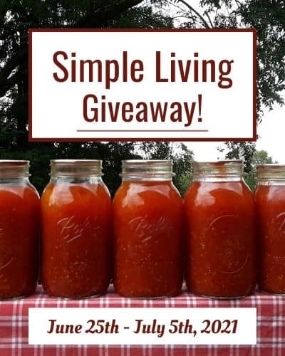 Simple Living Giveaway [June 25th – July 5th]