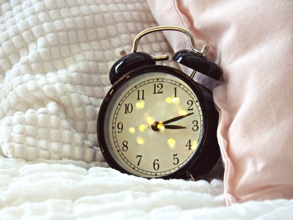 alarm clock to help you get up in the morning so you can have a  morning steady routine.