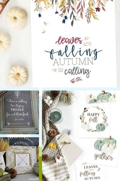 25+ Free Fall Printables For Quick And Easy Decorations