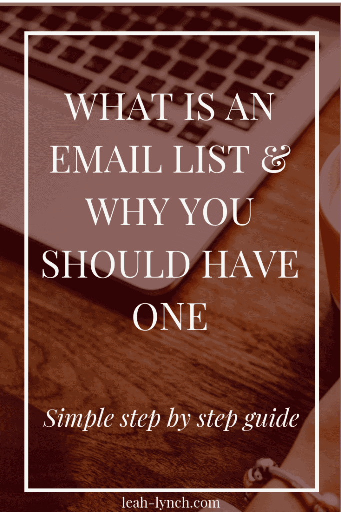 The first steps of how to start an email list and why you need to grow an email list for your blog and business to make money online.  #emaillist #emailmarketing