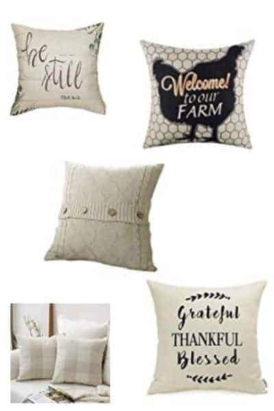 Affordable Farmhouse Style Pillow Covers