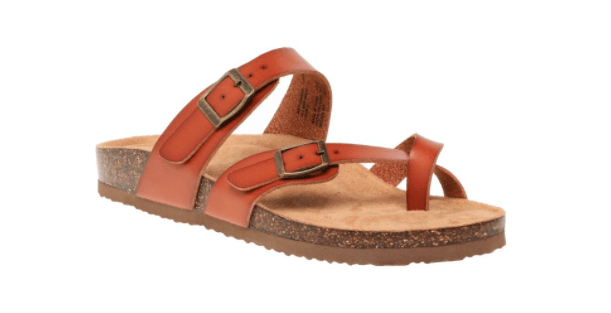 cute summer sandal with three straps