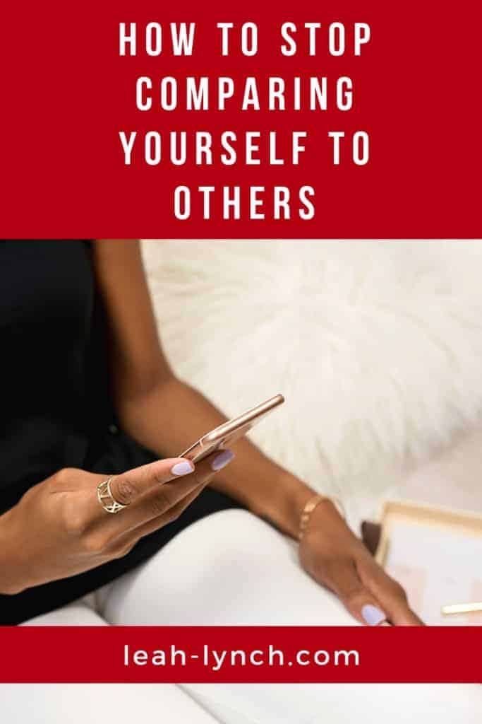 How to stop comparing yourself to other people. With comparison quotes.